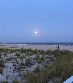 Supermoon at Cape May September 27 2015